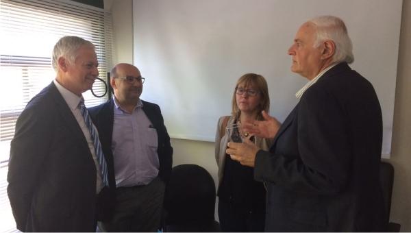 Ministro Basso se reunió con autoridades de la Asociación Médica